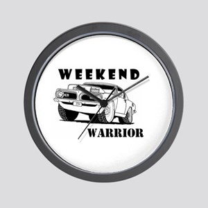 Weekend Warrior at the Drags Wall Clock