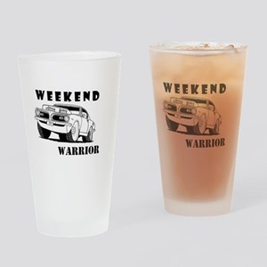 Weekend Warrior at the Drags Drinking Glass