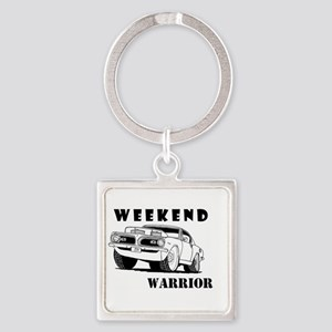 Weekend Warrior at the Drags Keychains