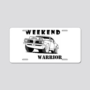 Weekend Warrior at the Drags Aluminum License Plat