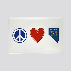Peace Love Nevada Rectangle Magnet