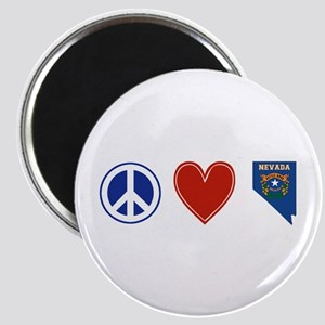 Peace Love Nevada Magnet