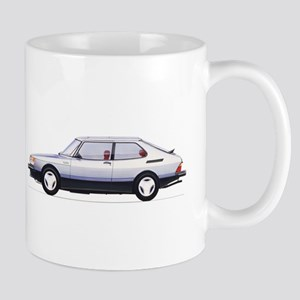 Silver Saab 900 Mug