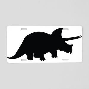 Triceratops Aluminum License Plate