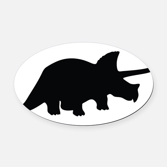 Triceratops Oval Car Magnet