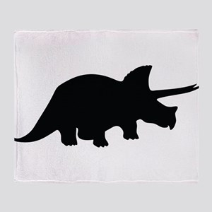 Triceratops Throw Blanket