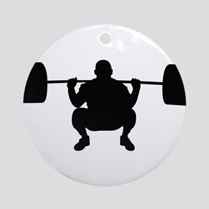 Lifting Weight Ornament (Round)
