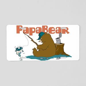 Papa Bear Aluminum License Plate