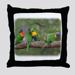 Rainbow Lorikeets 9Y543D-002 Throw Pillow