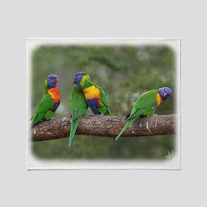 Rainbow Lorikeets 9Y543D-002 Throw Blanket
