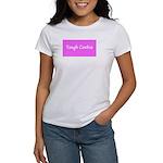 Tough Cookie Breast Cancer Pink Designer T-Shirt