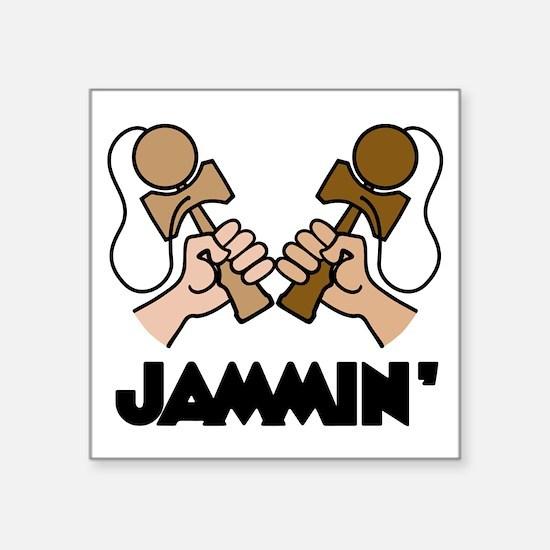 "Kendama Jammin' Square Sticker 3"" x 3"""