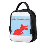 Make Cancer Extinct Dinosaur Neoprene Lunch Bag