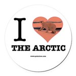 I Love The Arctic - Round Car Magnet