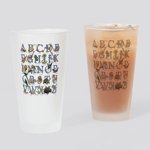 Animal Alphabet Drinking Glass