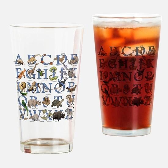 Animal Alphabet Drinking Glass