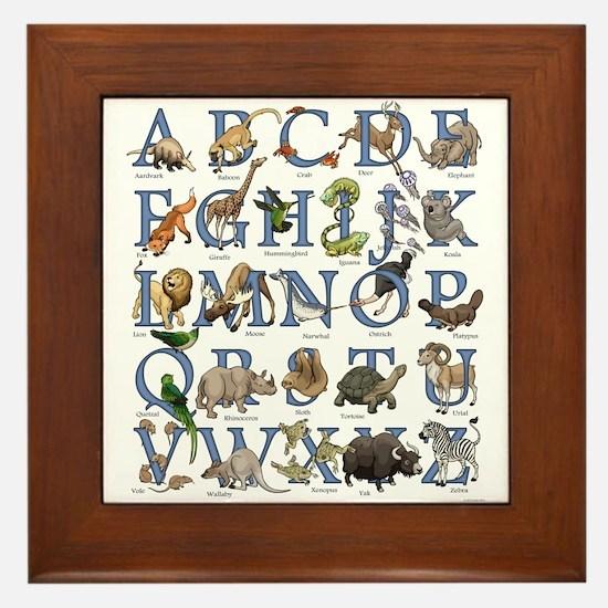 Animal Alphabet Framed Tile