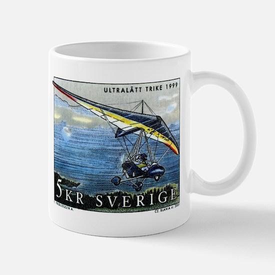 2001 Sweden Ultralight Aircraft Postage Stamp Mug