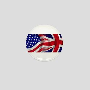 USA-Union Jack Flags Mini Button