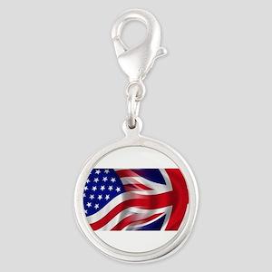 USA-Union Jack Flags Charms