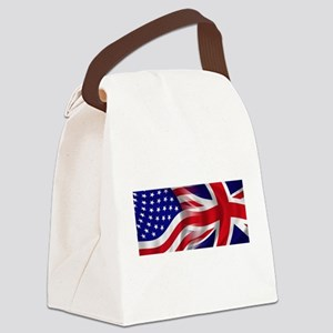 USA-Union Jack Flags Canvas Lunch Bag