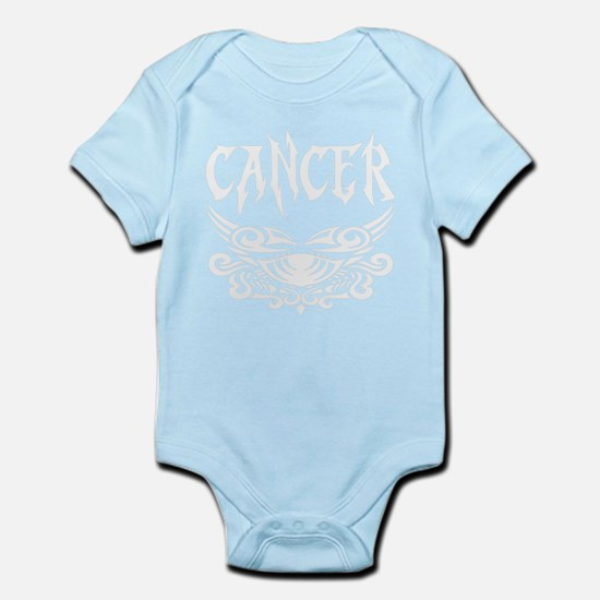 Cancer white letters Body Suit