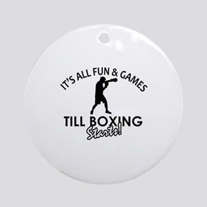 Boxing enthusiast designs Ornament (Round)
