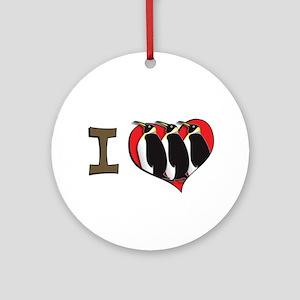 I heart penguins Ornament (Round)