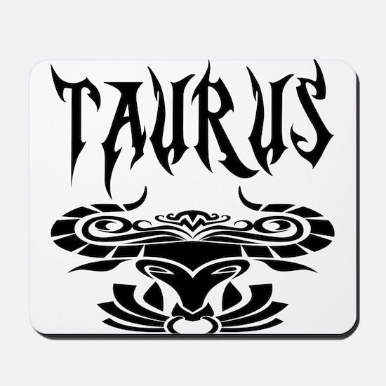 Taurus black letters Mousepad