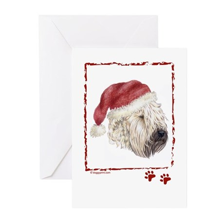 Merry Christmas Soft Coated Wheaten Greeting Cards