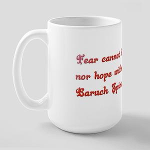 Large Mug with Baruch Spinoza quote