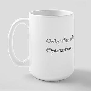 Large Mug with Epictetus quote