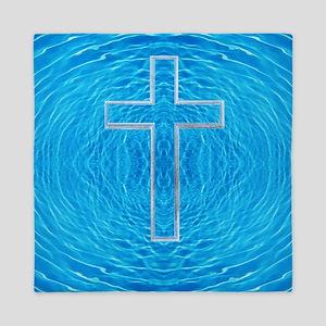 Cool Pool Cross-Transparent before God Queen Duvet