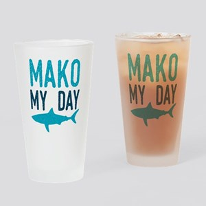 Mako My Day Drinking Glass