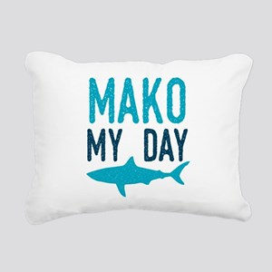 Mako My Day Rectangular Canvas Pillow