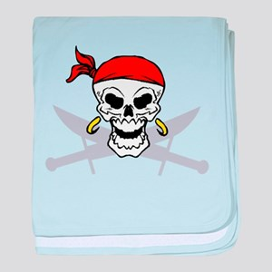 Pirate Skull and Swords baby blanket