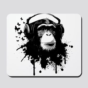 Headphone Monkey Mousepad