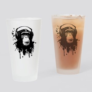 Headphone Monkey Drinking Glass