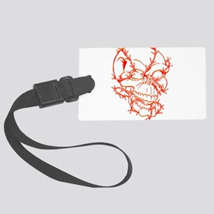 Skull and Barbed Wire Luggage Tag