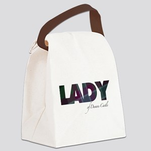 Lady of Dunans Castle Canvas Lunch Bag