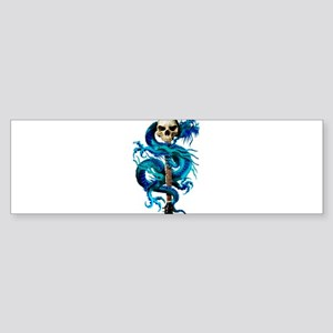 dragonslayerBLUE210x10_apparel Bumper Sticker
