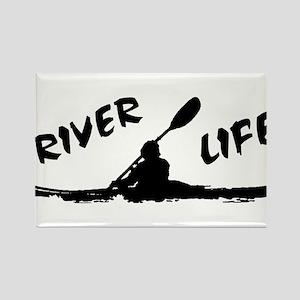 River Life Rectangle Magnet