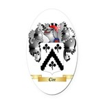 Clee Oval Car Magnet