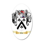 Clee 20x12 Oval Wall Decal