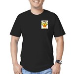 Clear Men's Fitted T-Shirt (dark)