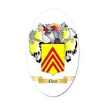 Clear Oval Car Magnet