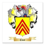 Clear Square Car Magnet 3