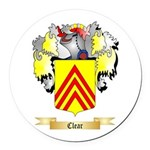 Clear Round Car Magnet
