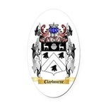 Claybourne Oval Car Magnet