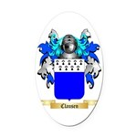 Clausen Oval Car Magnet